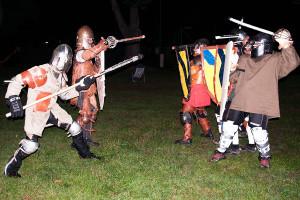 Schwertkampf Wien auf Naturrasen