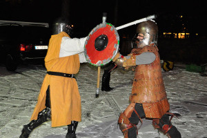 Schwertkampf im Winter
